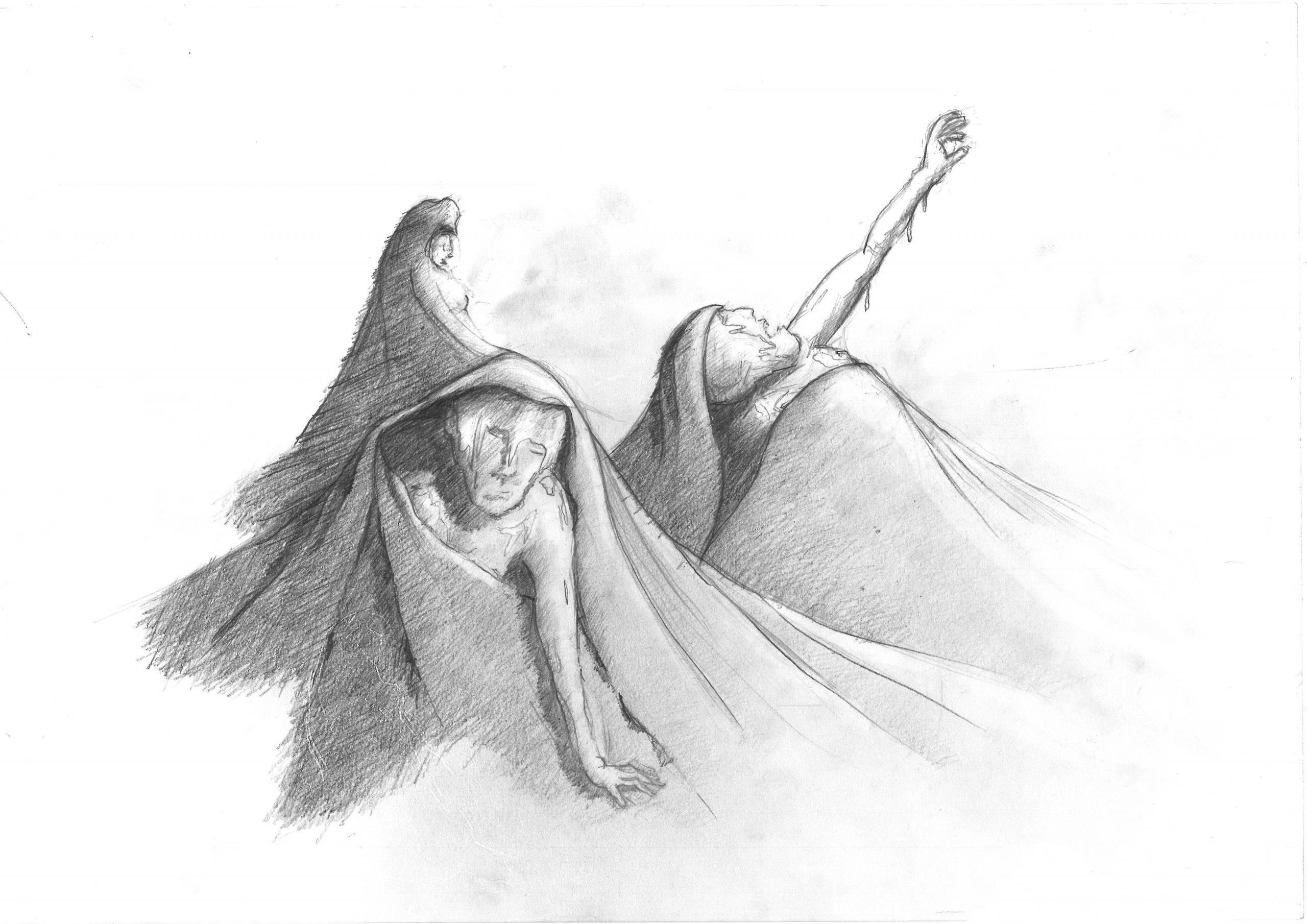 Projekt Parzival Zeichnung Geburt