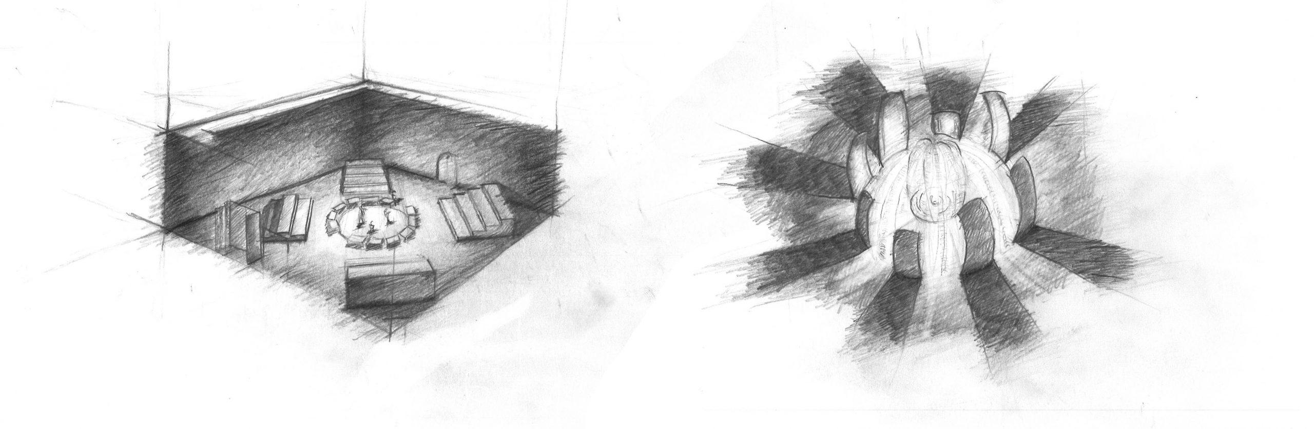 Projekt Parzival Zeichnung Arena