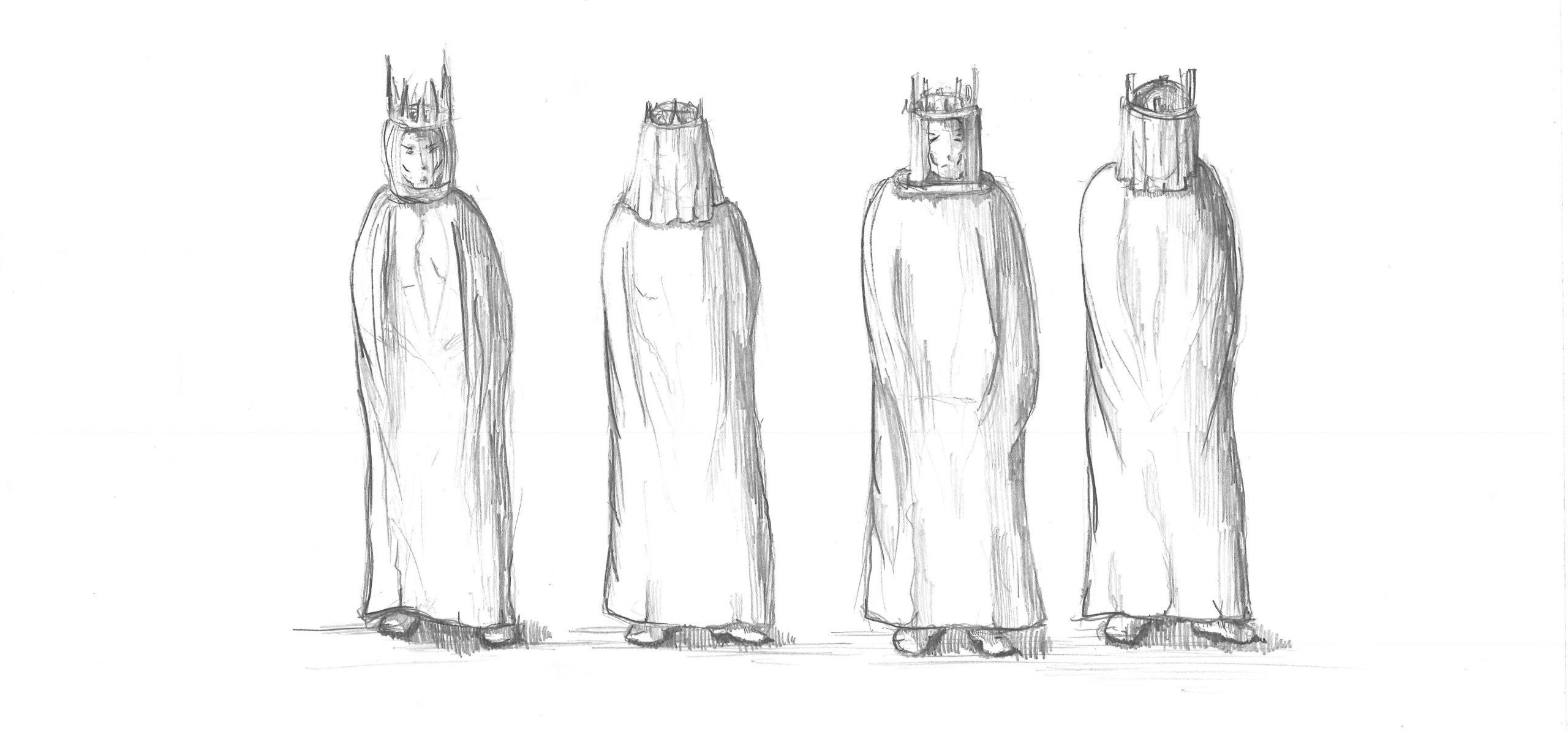 Projekt Parzival Zeichnung Kostüm Seniorenclub