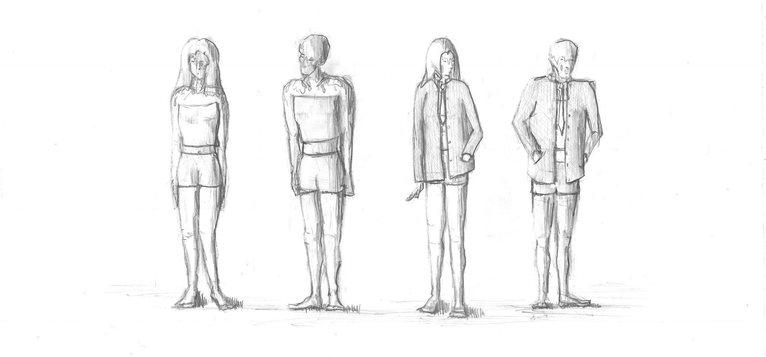 Projekt Parzival Zeichnung Kostüm Jugendclub